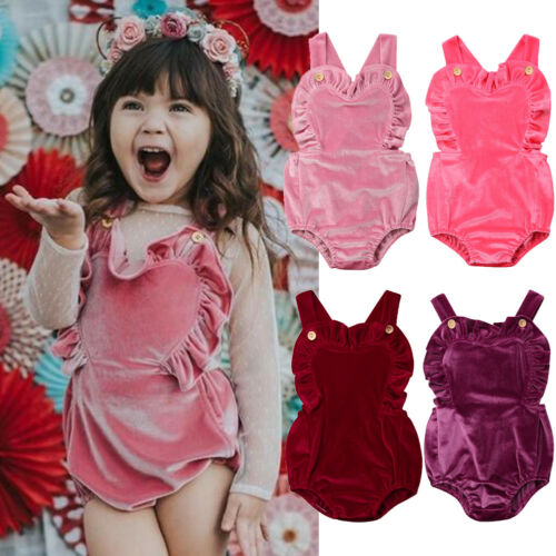 0023fb678922 2019 New Arrival Summer Ruffles Velvet Romper Jumpsuit Baby Girl Sleeveless  Romper Outfit Summer 0 3Y-in Rompers from Mother   Kids on Aliexpress.com  ...