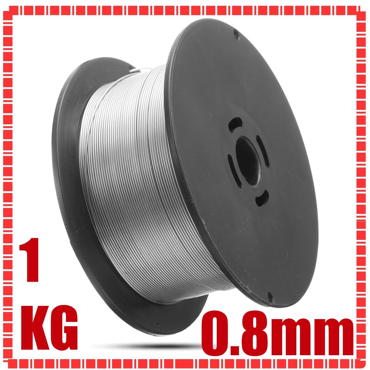 1 rotolo di 1 kg In Acciaio Inox Gasless Mig Fili per Saldatura 0.8mm Animati Saldatura Accessori Per Il Cibo Chimica Generale attrezzature