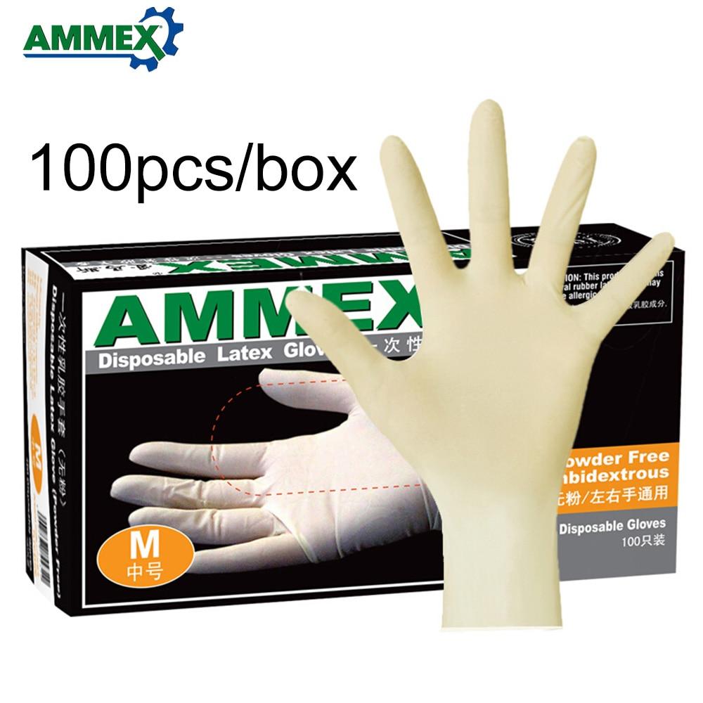 Apprensivo Ammex Usa E Getta Guanti In Lattice Addensare Guanti Di Gomma Multifunzionale Casa Di Cibo Guanti Medicali 100 Pz/pacco