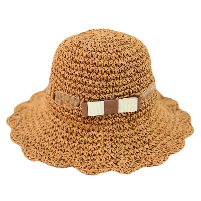 Well-Educated Baby Straw Hat Cute Toddler Baby Straw Sun Hat Summer Outdoor Beach Holiday Bucket Caps Casual Type Summer Caps For Girls Kids