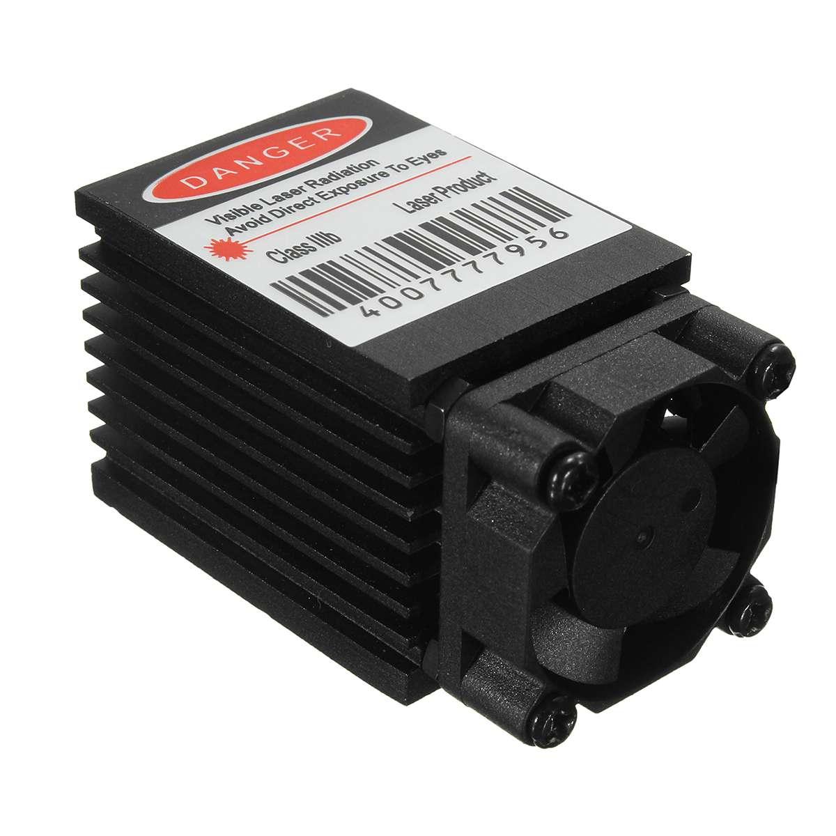 Fokussierbar 500mw 808nm Infrarot IR Laser Diode Dot Modul 12V + TTL + Fan Kühlung Laser Modul Für CNC Gravur Maschine
