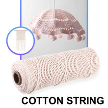 1mm Diameter 220M White Cotton Twisted Cord Natural Craft Macrame Artcraft String DIY Handmade Tying Thread Cords For Home Decor(China)