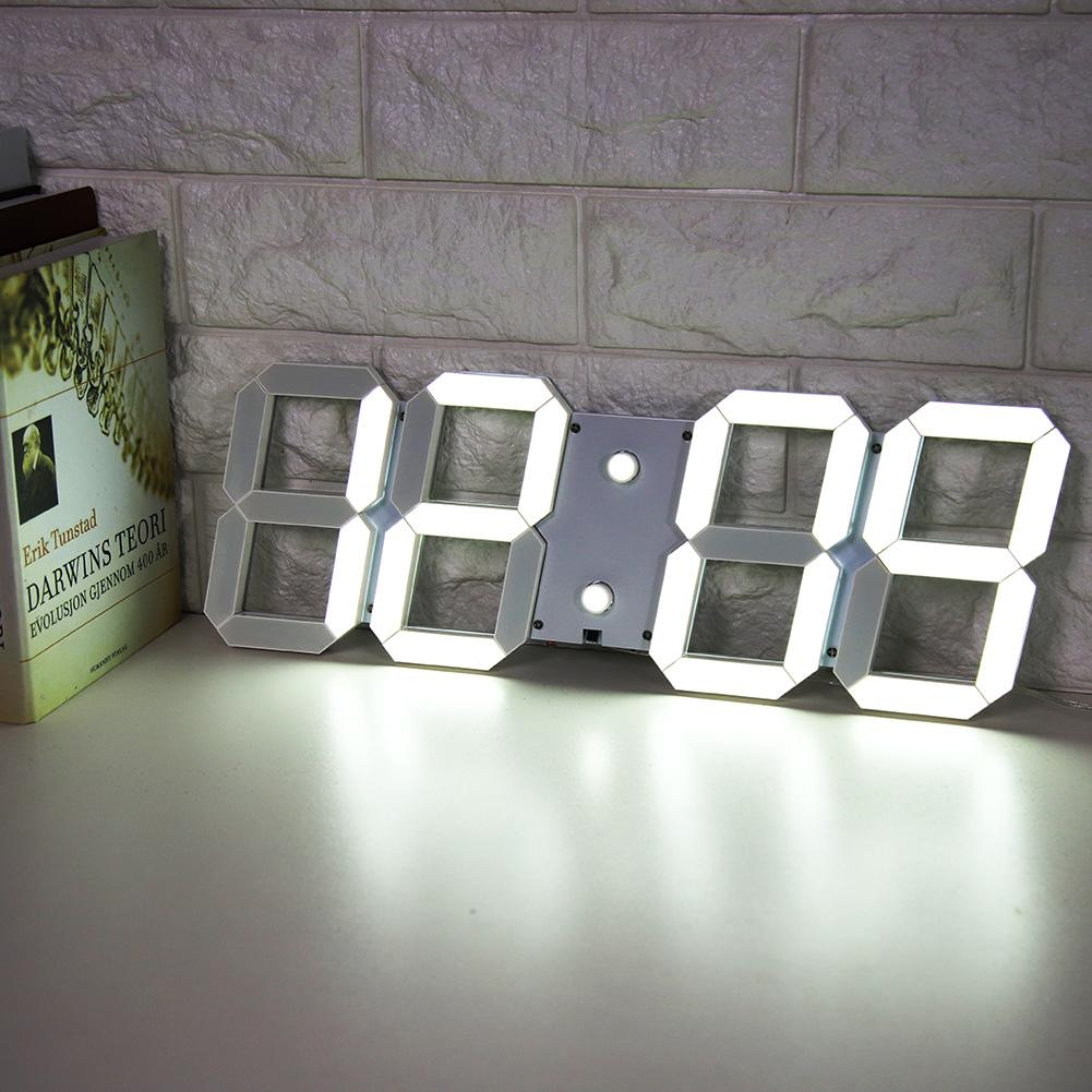 New Electronic Alarm Clock LED Wall Desk Clock Countdown Timer with Temperature Date (US Plug) New