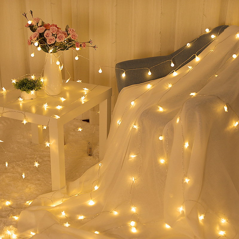 INS Outdoor Waterproof Holiday LED Lighting Strings Stars String Lights Fairy Lights Garland Party Wedding Christmas Decoration
