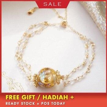 AURAREIKI Orgonite Bracelet 14K Gold Flower Of Life Tree Of Life Bracelet Super Flash Organ Energy Bracelet Gift For Girlfriend
