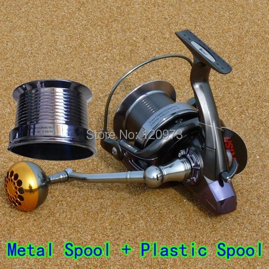 купить Surf Casting Reel FH8000 FH9000 FH10000--14BB Dual Spool Long Shot Wheel / Metal Fishing Reel / Salt Water Spinning Distant Reel по цене 4007.09 рублей