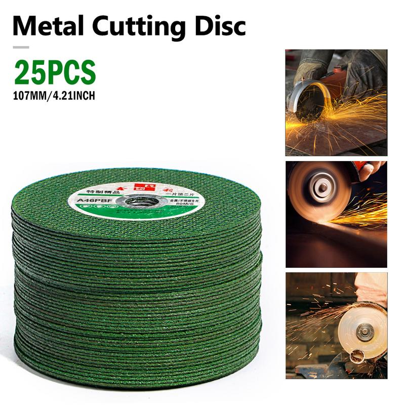 25PCS Cutting Discs 100 Angle Grinder Stainless Steel Metal Grinding Wheel Resin Double Mesh Ultra Thin Polishing Piece in Abrasives from Tools