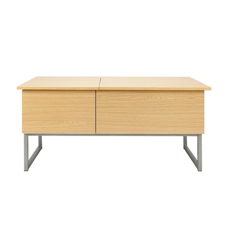 Table basse moderne avec compartiment caché et tiroir de rangement table basse en bois clair
