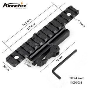 AloneFire KCD0038 QD Крепление базы 20 мм Пикатинни пистолет аксессуар для охоты 1 шт