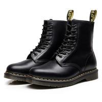Dor Martens Martin Amorous Companion Short Men Women Genuine Leather Boots Circle Head Trend Locomotive Work Clothes Shoe