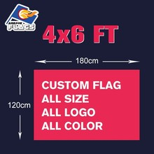 4x6FT Custom Advertising Hand Flag Free HD Design Digital Printing 120X180cm 100D Polyester All Styles and Logos Customize LGBT