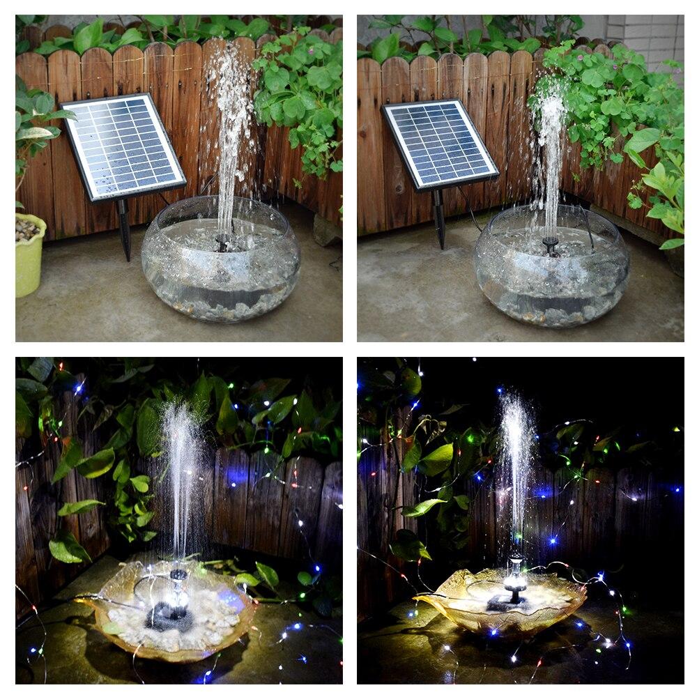pompe a eau solaire 12v 5w pompe led sans balais avec telecommande submersible pour fontaine pour jardin etang