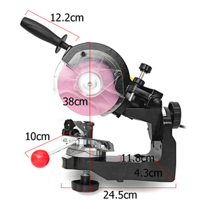 Image 3 - Large grinding wheels Saw Chain Grinder Electric Chainsaw Sharpener 230W 3600RPM for Bench Chainsaw Sharpener AU/UK/EU/US plug