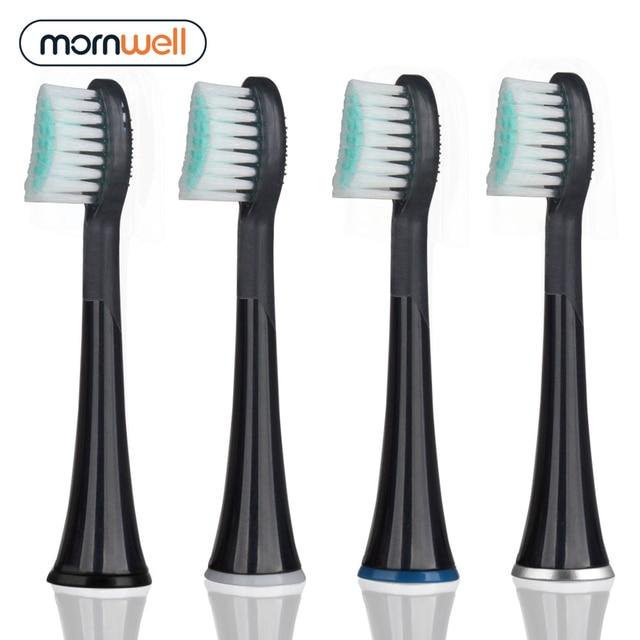 Сменные насадки для электрической зубной щетки Mornwell D01B, 4 шт. 1