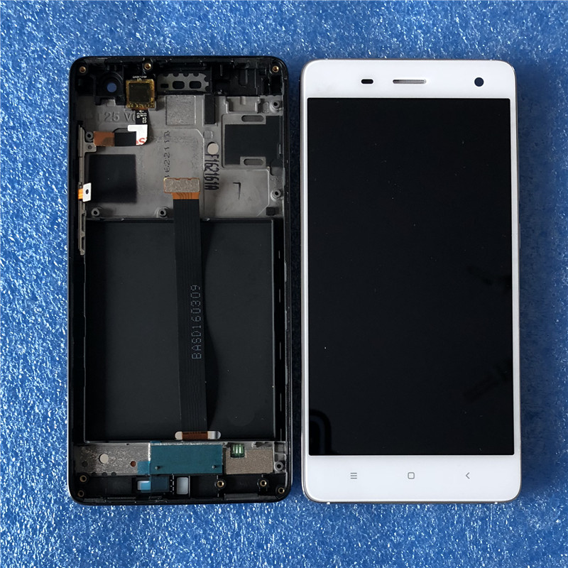 D'origine Axisinternational Pour 5.0 Xiaomi 4 Mi4 avec cadre écran LCD Affichage + écran tactile Numériseur Noir/blanc pour Xiaomi Mi 4