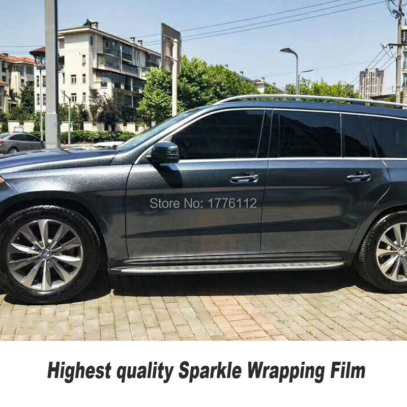 Classic upgrade Glossy Vinyl For Car Wrap With Air release sparkle Glitter vinyl wrap Pearl Film