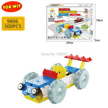New 3D Vehicle Plastic Puzzle Toys, Child Magical Interlocking Blocks, 300PCS Racing Car Model Building Set, Kid Durable Present(China)