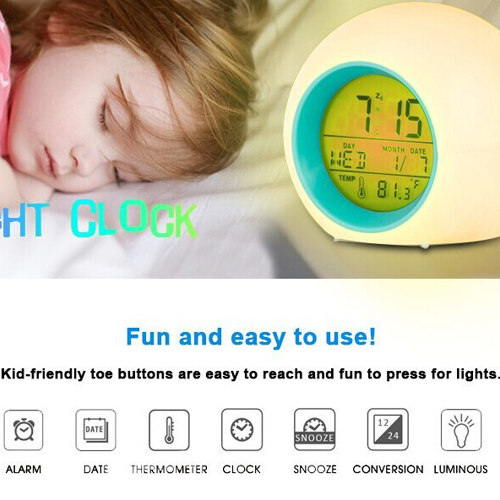 Hot Sale Color Change Digital Led Projector Starry Star Alarm Clock Children Gifts Music Snooze Temperature Calendar Alarm Clock Good Heat Preservation Home & Garden