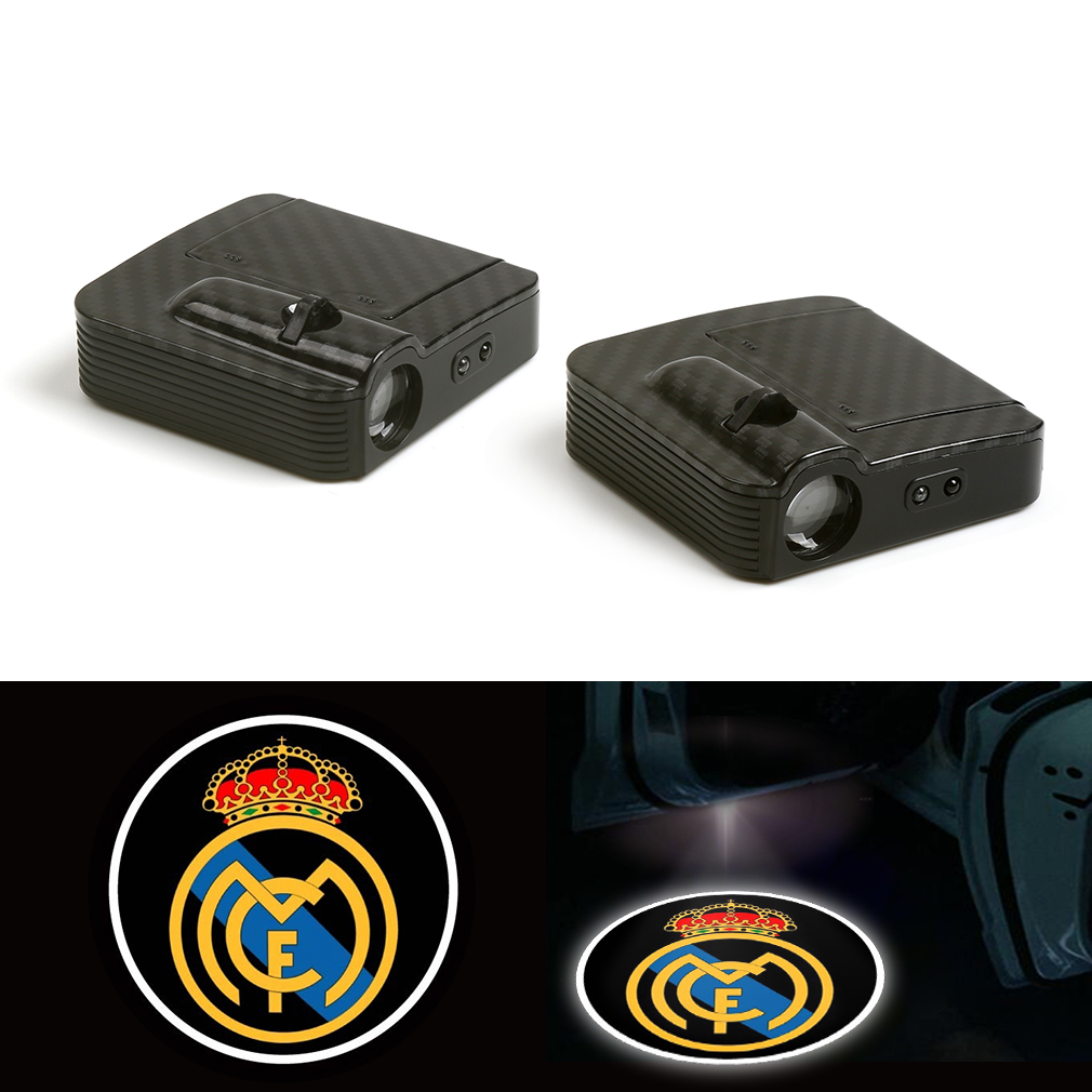 Fit For Real Madrid Football Club Led Car Logo Door Ghost Shadow Laser Projector Light 12V in Decorative Lamp from Automobiles Motorcycles