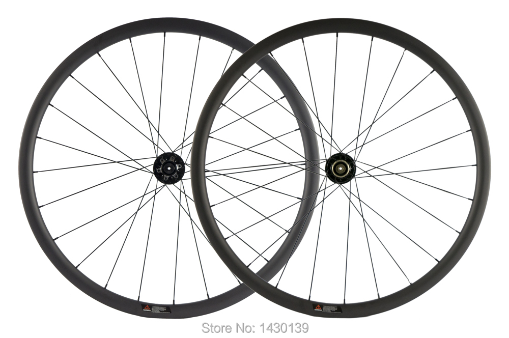 Newest 700C 30mm Road bike matt UD full carbon fibre bicycle wheelset carbon clincher rims 791 792 disc brake hubs Free shippingBicycle Wheel   -