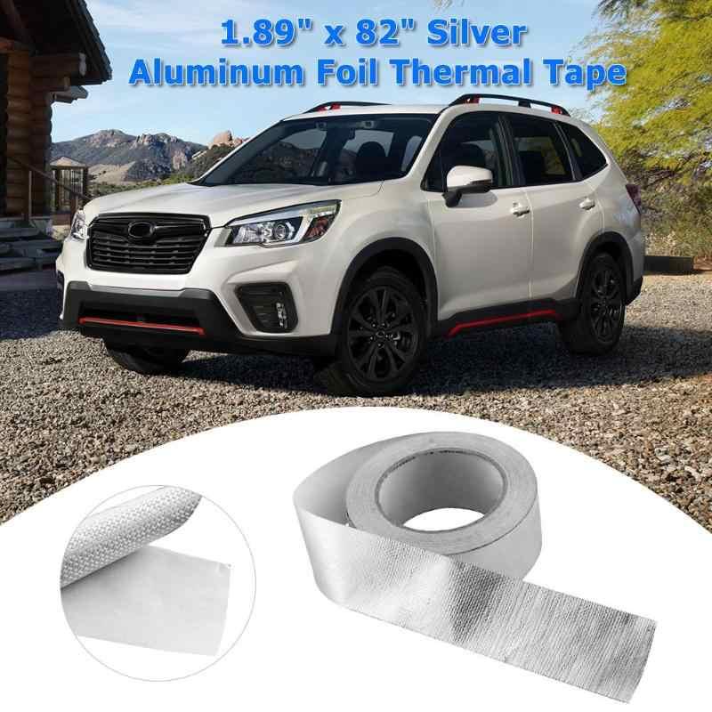 New Car Auto Moto Tubo Di Scarico di Calore Shield Wrap Foglio di Nastro di Calore Nastro Isolante Wrap Shield Adesivo di 1.89 pollici x 82ft