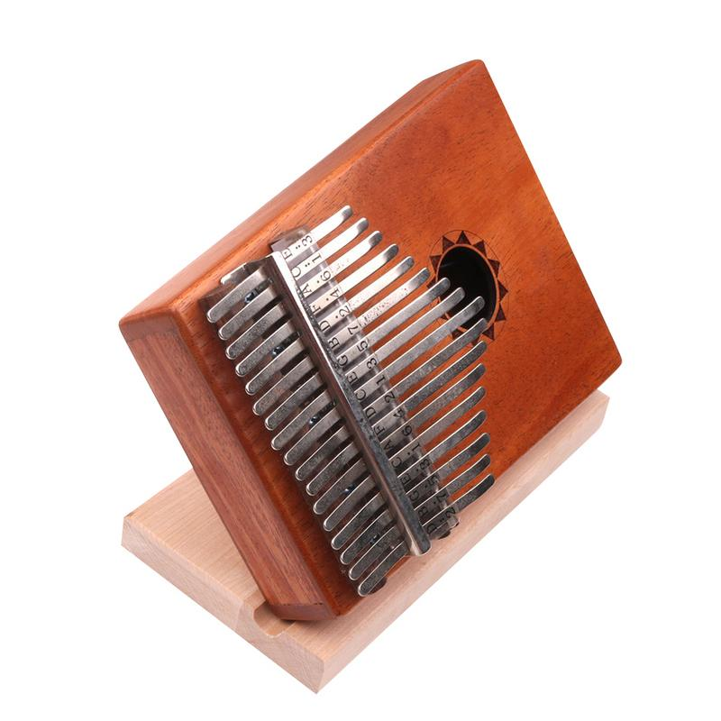 Support-Stand Ocarina Kalimba Musical-Instrument Thumb-Piano Wooden 19x9x1.8cm