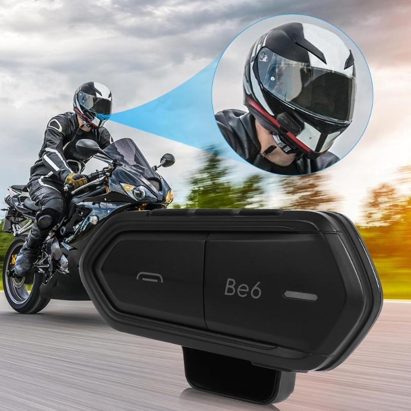 Casque de moto étanche casque sans fil 1000 m Bluetooth Interphone moto mains libres Bluetooth Interphone