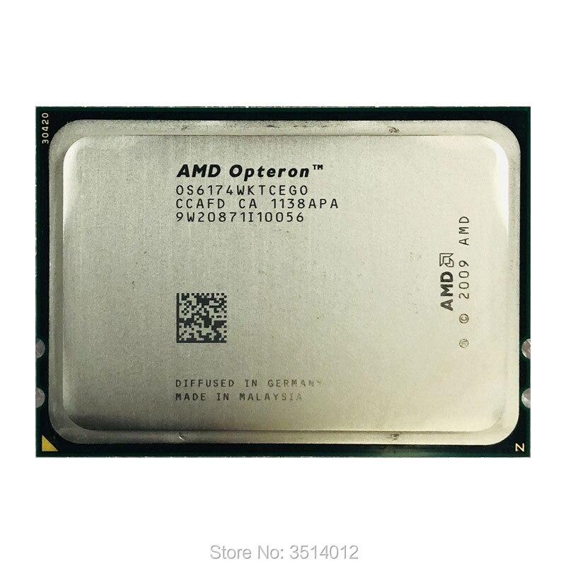 AMD Opteron 6174 Op 6174 2,2 ghz Zwölf-Core Zwölf-Gewinde 115 watt CPU Prozessor OS6174WKTCEGO Buchse G34