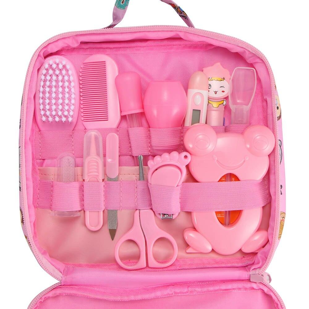 13 Pcs Gesundheit Pflege Tasche Baby Täglichen Hygiene Nagel Clipper Schere Pinsel Haar Kamm Maniküre Pflege Blau/rosa Farbe Für Baby Versorgung Hitze Und Durst Lindern.
