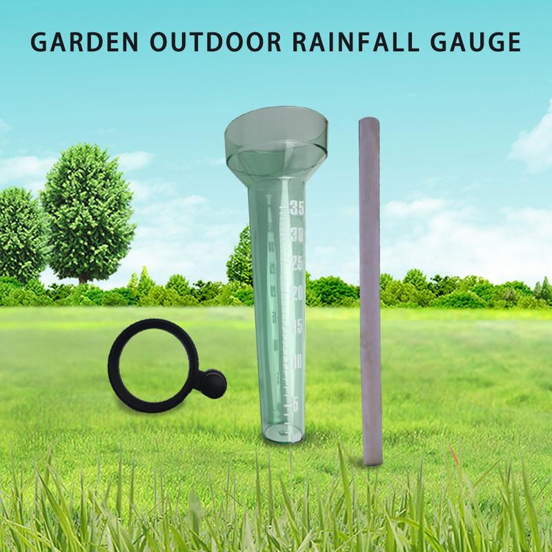 Rain Gauge Garden Outdoor Single-Type Rain Observation Record Small Wooden Stick Inserted Agricultural Technician Tools