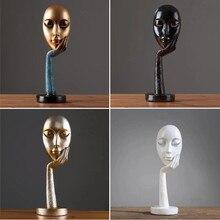 Абстрактные статуи, скульптура, искусство, ремесла, современные человеческие медитаторы, персонаж, Статуэтка из смолы, Дамское лицо, украшение для дома
