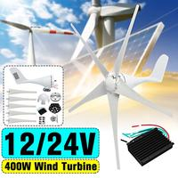 400W Wind Turbines Generator 5 Blades 12V 24V Wind Generator with 600W Waterproof External Controller for Home