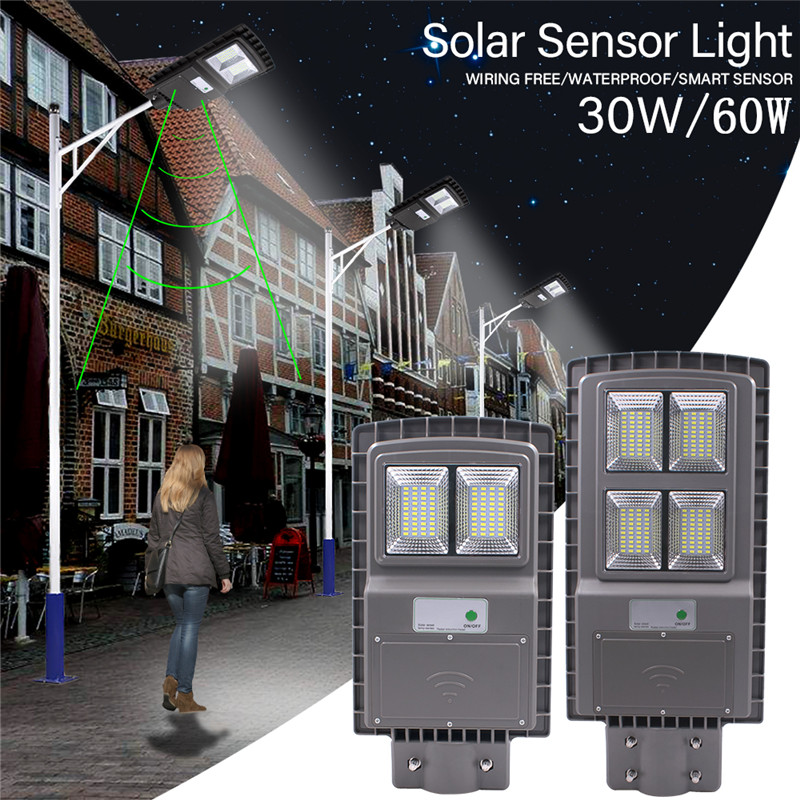 Disciplined 30/60w Solar Street Lights Lamps 80/160led Wireless Waterproof Lights+motion Sensors Commercial Or Industrial Grade Safety Lamps Packing Of Nominated Brand Street Lights