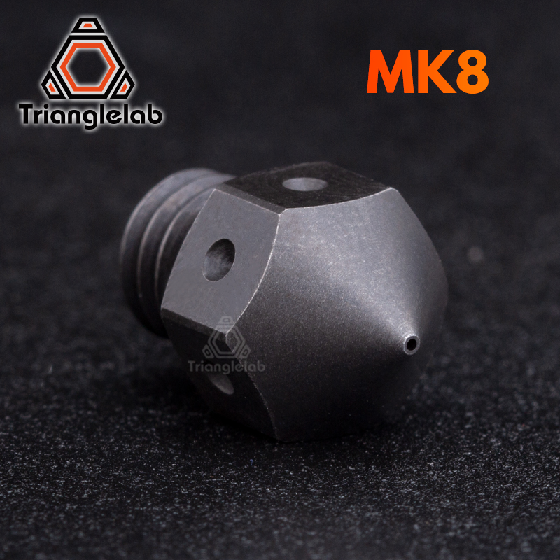 trianglelab high temperature Hardened Steel MK8 Nozzles for 3D printer PEI PEEK or Carbon fiber for E3D HOTEND Extruder 1pcs hardened steel volcano nozzles for high temperature 3d printing pei peek or carbon fiber filament for e3dvolcano hotend
