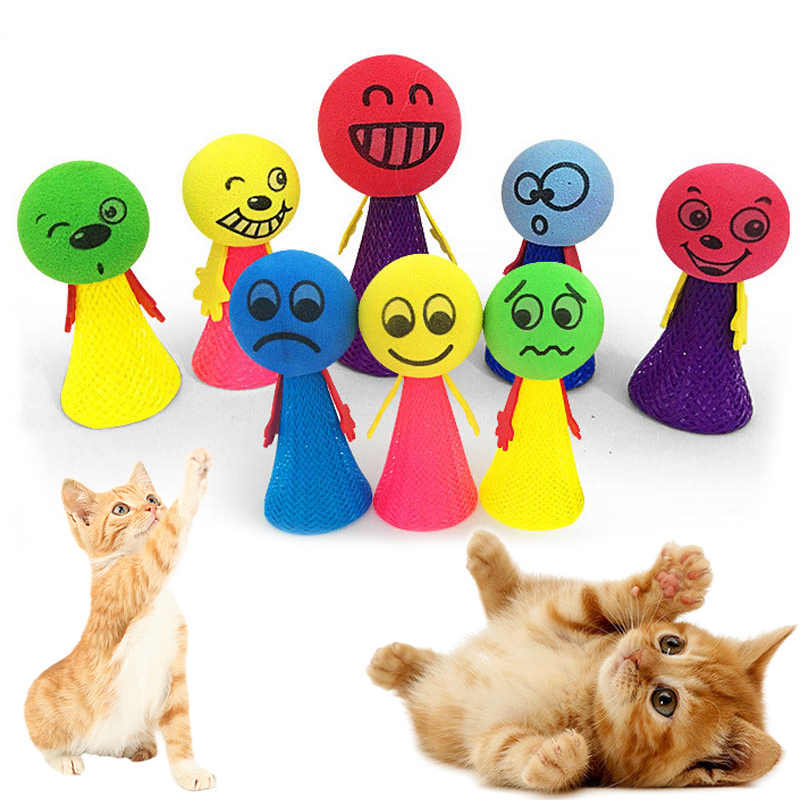Playing Toys Jumping for Cat Pet Cat Popular Funny Bouncing Toy Pet Accessories Bouncy Balls Toys Puppy High Quality 1PC Cat Toy