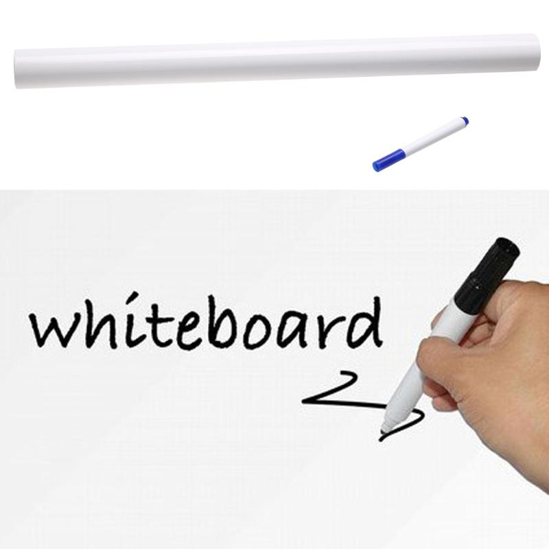 45 X 200cm Removable Whiteboard Sticker Chalkboard Decal Wall Writing Board Pen School Office Supplies Student Stationery Gifts
