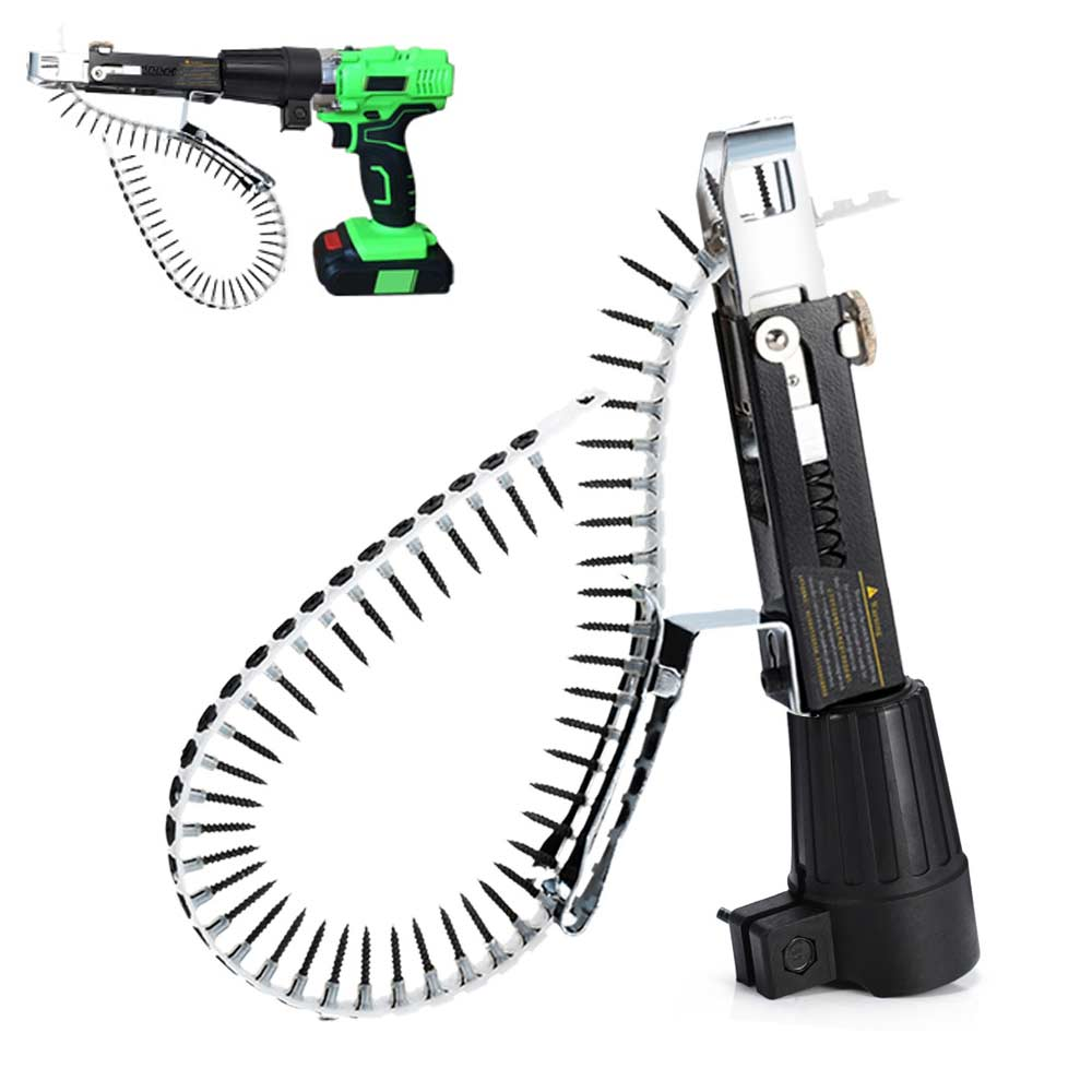 Automatic Electric Drill Nozzle Adapter Nail Exit Bracket And Chain Nails Kit Household Tools Set Chain Nail Machine AccessoriesAutomatic Electric Drill Nozzle Adapter Nail Exit Bracket And Chain Nails Kit Household Tools Set Chain Nail Machine Accessories
