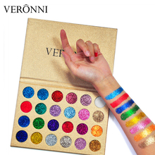 VERONNI Brand Maquiagem Glitter Pressed Diamond Eyeshadow Make Up Cosmetic 24 Color Eye Shadow Magnet Maquillaje Palette
