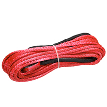 Durable 1/4 x 50 6mm*15m Red 7000lbs Synthetic Fiber Winch Rope Cable Line Universal for ATV UTV Off-Road