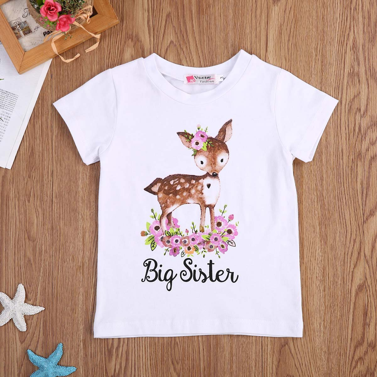 Pants Outfit Clothes USA Sister Match Big Little Sister Girl T-shirt Romper Top