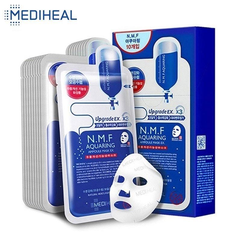 Mediheal Moisturizing Korean Face Mask Facial Sheets Nourishing Tightening Firming Lift Oil Water Balanced Skincare ,25ml*10pcs