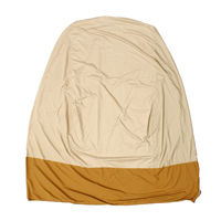 Khaki Brown Zipper Design Water Resistant Outdoor Hanging Egg Swing Chair Cover Dust Proof Protector High Quality