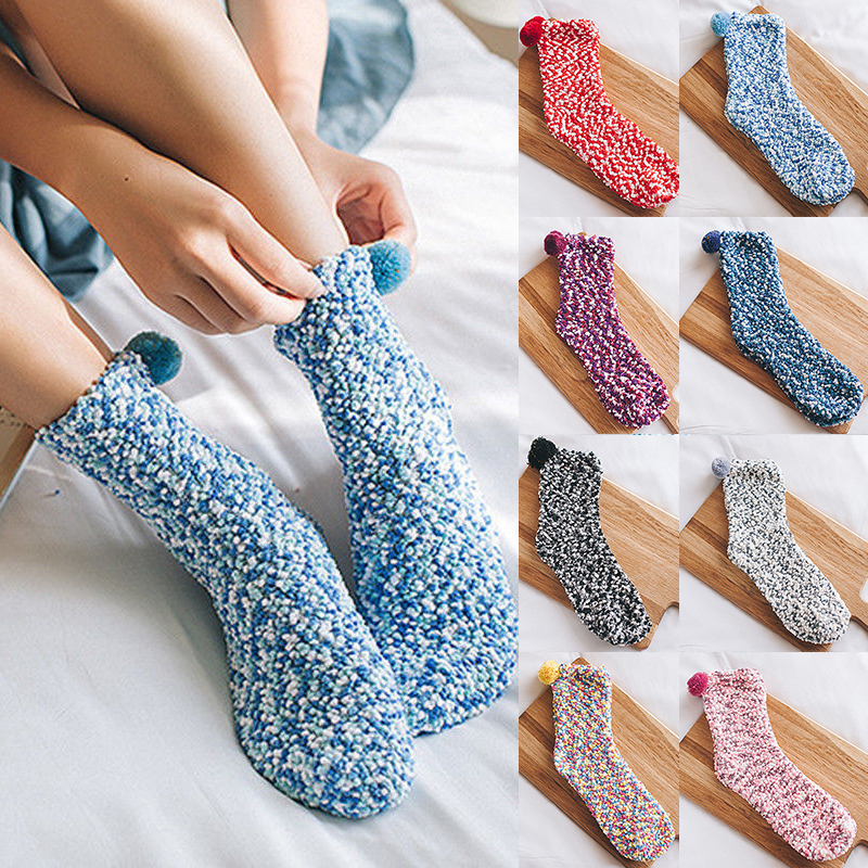 2019 Fashion Women's Warm Socks Autumn Winter Coral Velvet Fleece Socks Woman Female Lady Soft Fluffy Sock Cosy Lounge Bed Sock