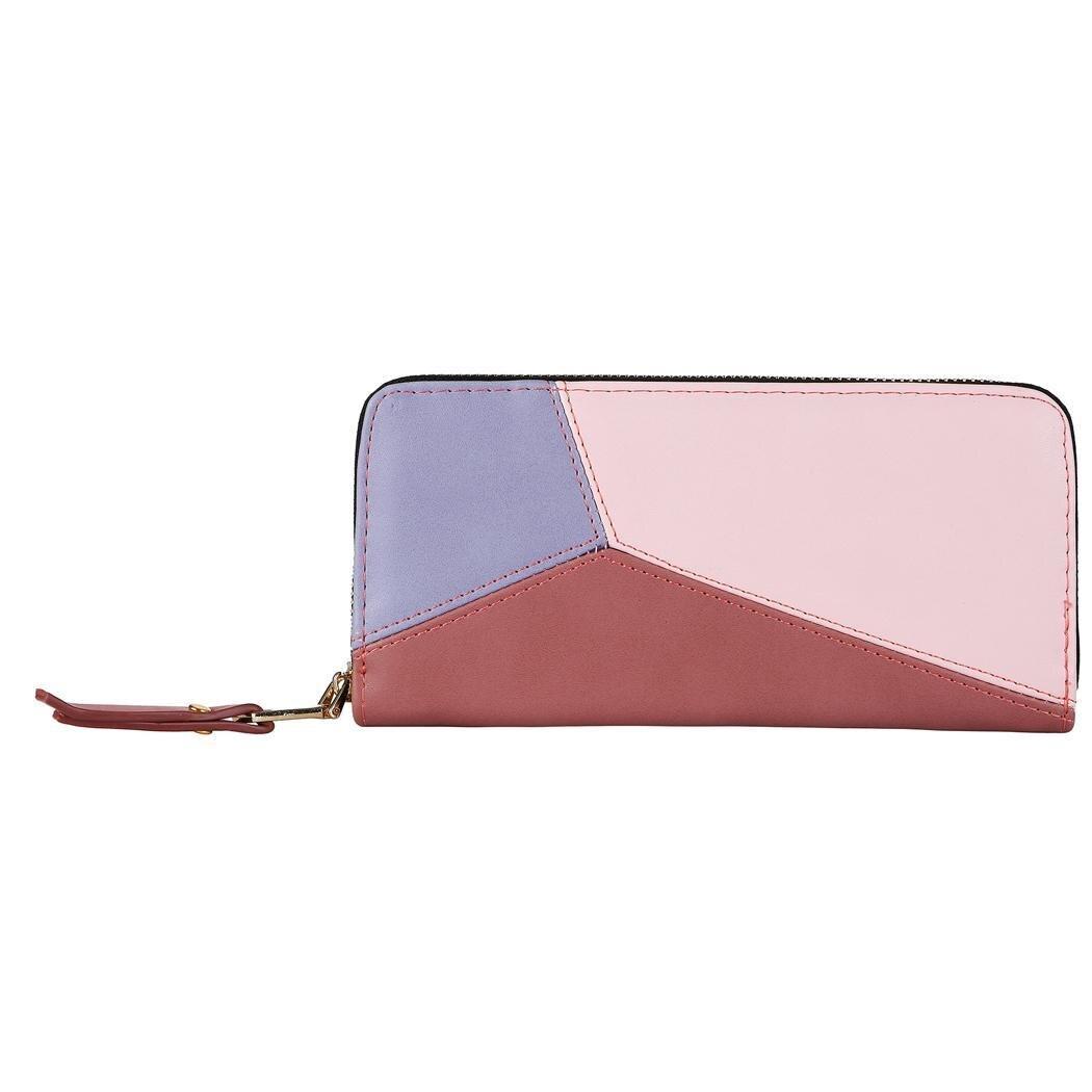 09d362d7a91b Женская мода пэчворк Молния Прямоугольник кошелек клатч сумка может быть  хорошо сочетается с одеждой везде 3