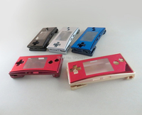 blue and red color Replacement Housing Shell case for GameBoy Micro GBM Faceplate