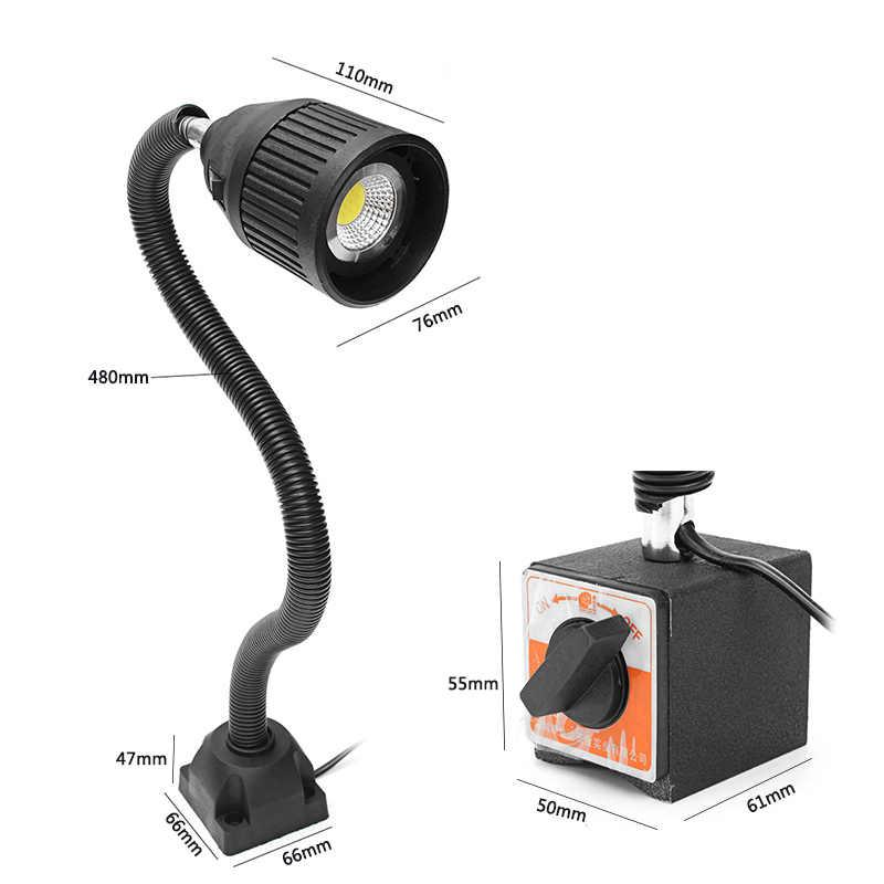 5 Вт 100-220 В 50 см регулируемый светодиодный светильник для станка с ЧПУ Токарный станок фара фрезерный станок рабочий свет Рабочий стол лампа