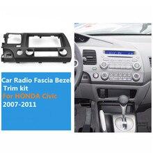 2 Din Per Honda Civic 2007-2011 Autoradio Fascia Lunetta Trim kit Heavy ABS di Plastica Doppio din Stereo Cruscotto