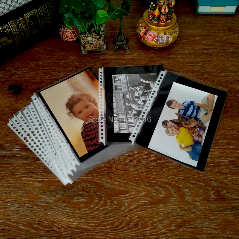 DIY Photo Album Leaf Punched Pocket With 300g Black Paper Card Board Nonpoisonous Tasteless For B5 Binder Folder