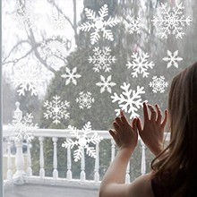51 pz/set Di Natale Fiocco di Neve Sticker Decorazioni Per La Casa Camera Dei Bambini Decalcomanie Buon Ornamenti Di Natale Adesivi Murali Finestra Di Vetro