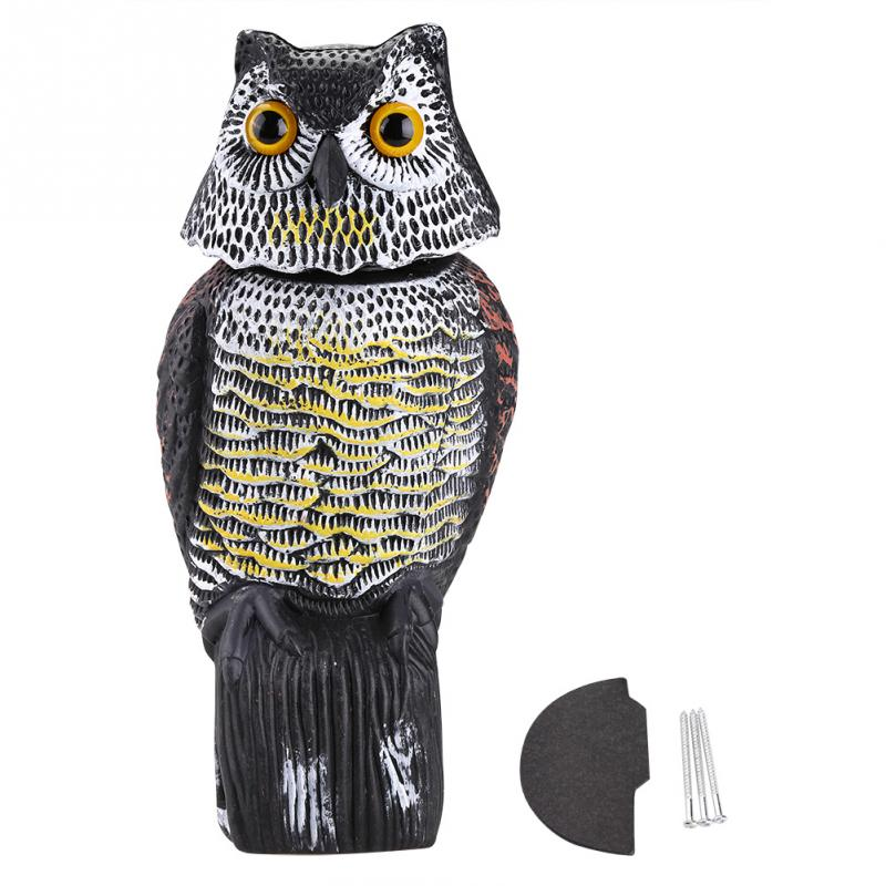 US $12 19 35% OFF|Realistic 6 Inch Premium Rotating Bird Repellent Fake Owl  Decoy Bird Scarer For Pest Control Scarer Scarecrow Garden Yard Decor-in
